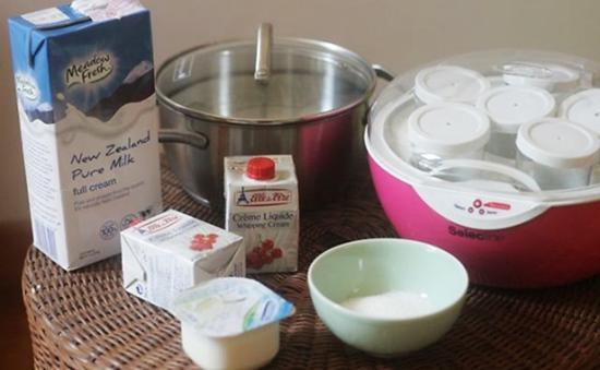 Nguyên liệu làm sữa chua dẻo Cacao
