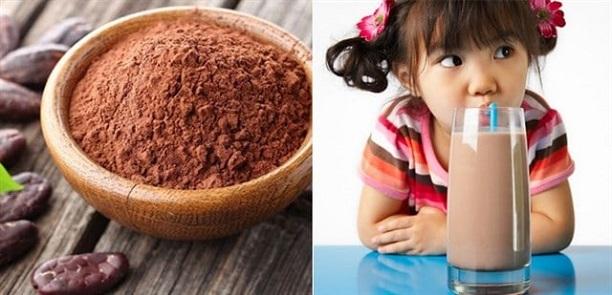 Trẻ em có nên uống cacao?