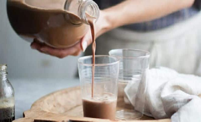Sau khi hoàn thành cacao sẽ có màu nâu nhạt.